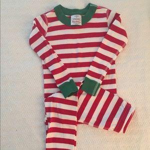 Hanna Andersson striped 2 piece pajamas
